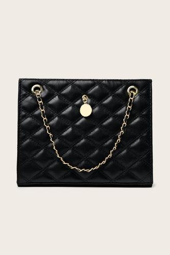 front_Eunice Ella Black Tote Bag