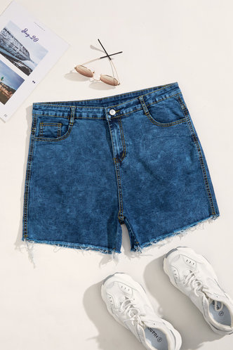 back_Julia Edwina Wash Blue Plus Denim Shorts