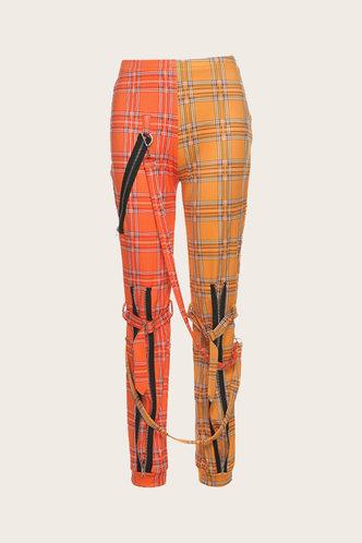 back_Estella Elma Yellow And Red Plaid Pants