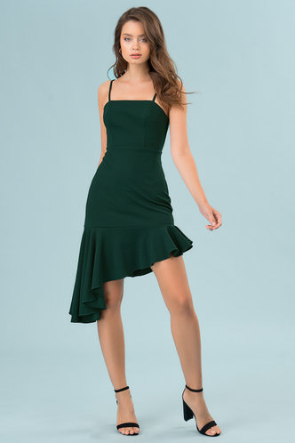 front_Sweet Dreams Dark Emerald Midi Dress