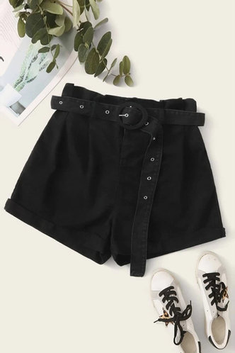 back_Gita Black Shorts