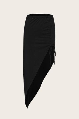 back_Sarah Edith Black Split Hem Skirt