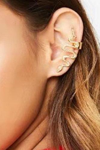 front_Inez Elma Gold Snake Wide Ear Cuff