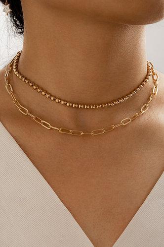 front_Antoinette Ella Gold Simple Chain Necklace