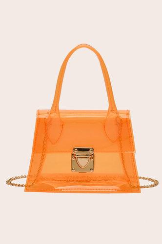 front_Gladys Panum Orange Satchel Bag