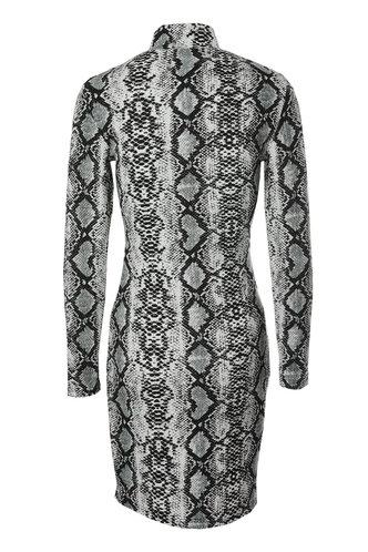 back_Poison Snake Print Bodycon Dress