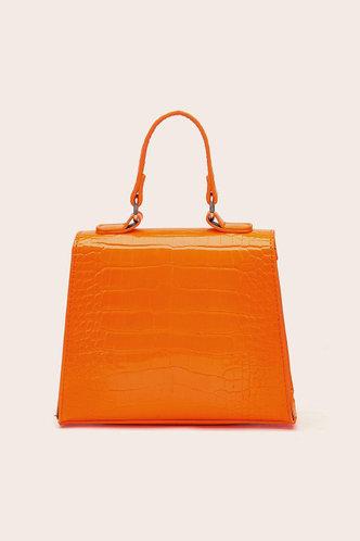 back_Elma Laget Orange Satchel Bag