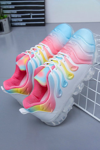 back_Flat Round Toe Multicolor Sneakers