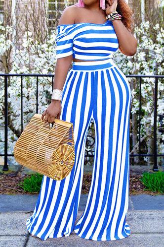 back_Rita Erica White And Blue Striped Plus Set