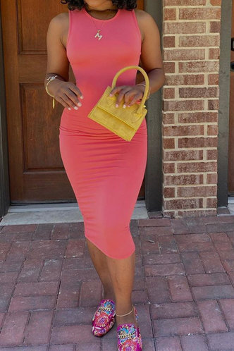 front_Jacquetta Eleanore Pink Bodycon Tank Dress