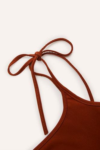 back_Udo Coffee Split Hem Overall Dress