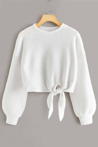 front_Cecilia Eartha White Fuzzy Pullover