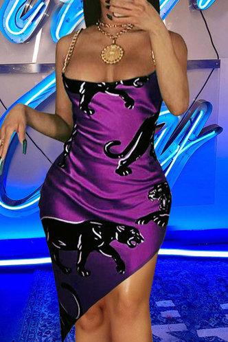 front_Gabrielle Fiskan Purple Split Hem Dress