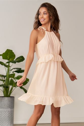 front_Young Dreams Blush Mini Dress