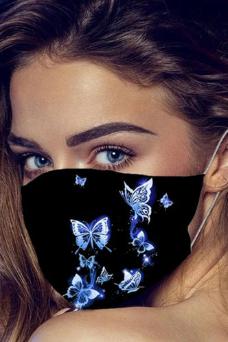 front_Emily Evangeline Butterfly Print Face Mask