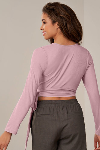 back_On The Line Blush Long Sleeve Top