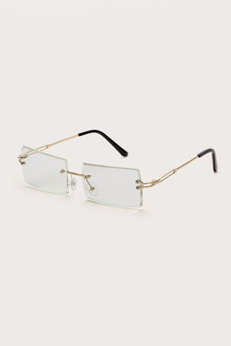 back_Square White Glasses & Eyewear accessories