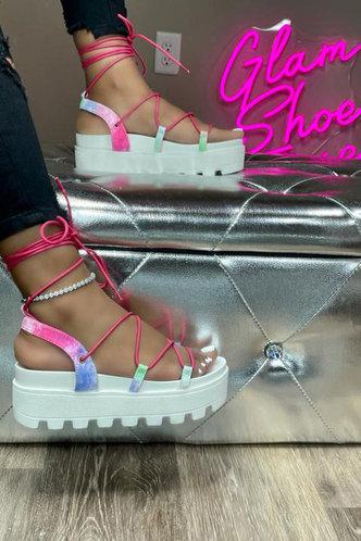 front_Nita Erin Pink Wedge Sandals