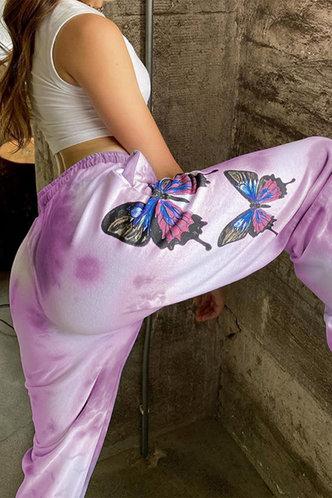 back_Sandy Eartha Purple Tie Dye Sweatpants