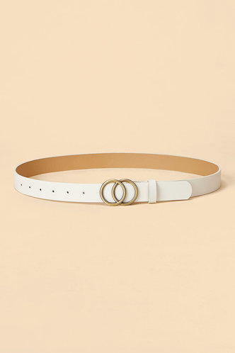 back_Roxanne Edith White Double O-ring Buckle Belt