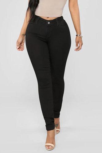 front_Phillis Elma Black Bodycon Jeans