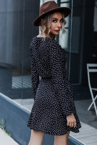 back_Go Figure Black Polka Dot Dress