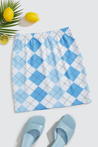 back_Fidelia Elsie Blue Plaid Skirt