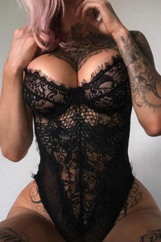 front_Bridget Elvira Black Bodysuit