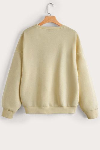 back_Jacquelyn Khaki Sweatshirt