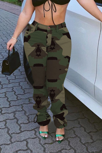 front_Selma Eleanore Green Camo Jeans