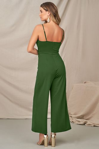 back_Light Bridges Dark Emerald Jumpsuit