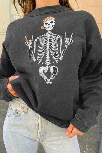 front_Ricarda Edith Dark Grey Sweatshirt