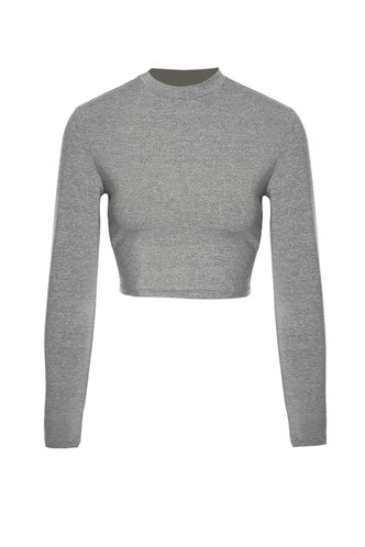 front_Pointelle Me More {color} Long Sleeve Top