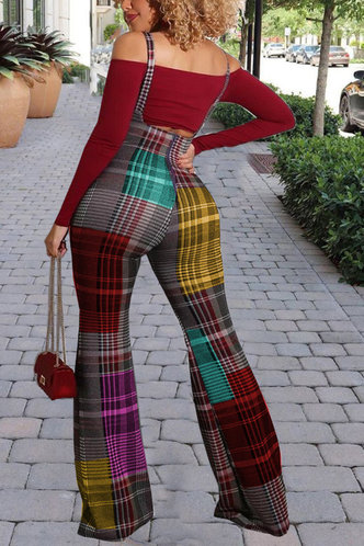 back_Sadie Elsa Red And Colorful Striped Plus Set