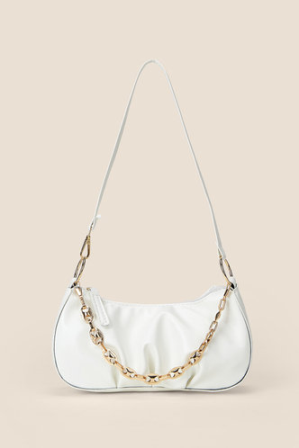 front_Christine Elaine White Shoulder Bag