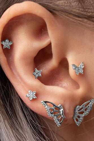 front_Edith Ella Silver Butterfly Detail Earring 6pcs