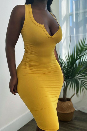 front_Germaine Eve Yellow Dress