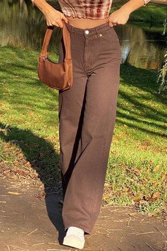 front_Susannah Elizabeth Brown Wide Leg Jeans