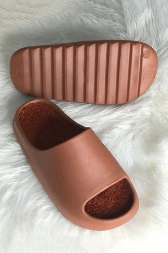 back_Ena Flugil Brown Slide & Flip Flop