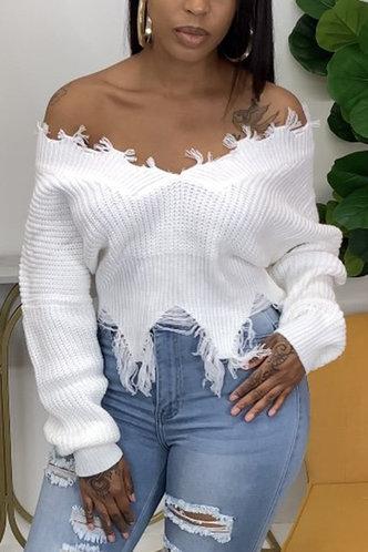 front_Lauren Fajrer White Sweater