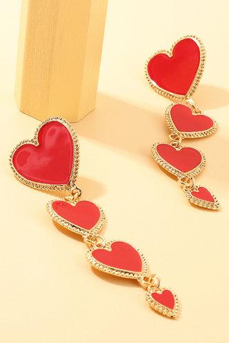back_Inge Elizabeth Gold Heart Drop Earrings 1pair