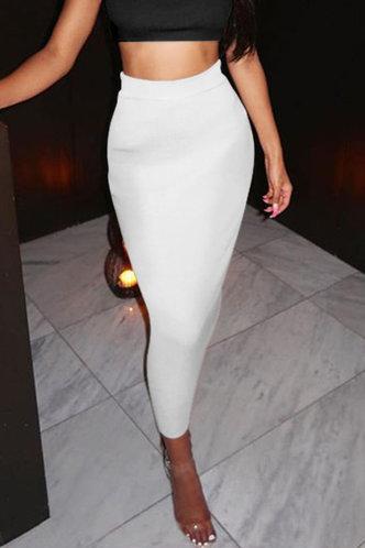 back_Alexandrina Elsie White Skirt