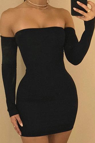 back_Noah Elaine Black Open Back Dress