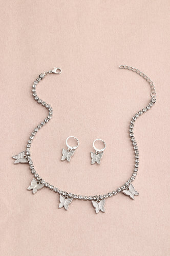 back_Chain Butterfly Silver Sets