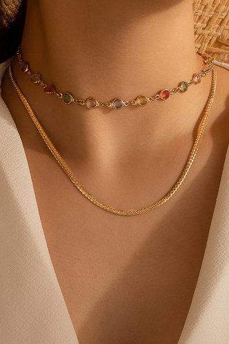 front_Anthea Elizabeth Gold Layered Necklace