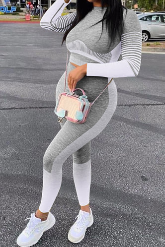 back_Flossie Erica Light Grey Activewear Set