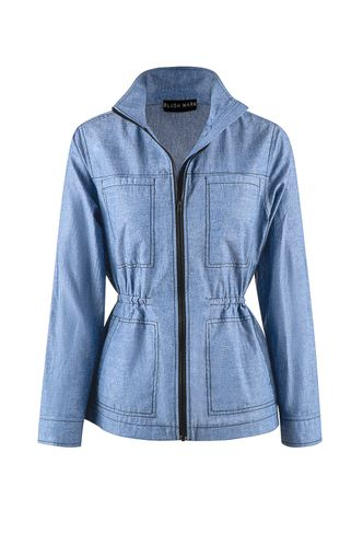 front_Champion Blue Chambray Shirt Jacket