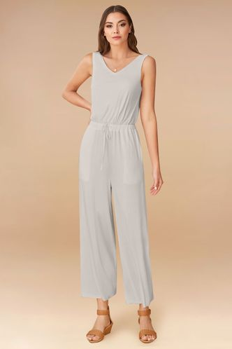 front_Never Alone Grey Jumpsuit