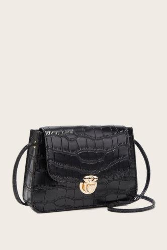 back_Suzan Elvira Black Crossbody Bag