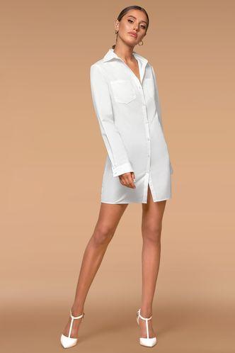 front_Wait For The Morning White Mini Dress